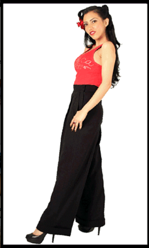 High Waisted--Vintage Style Hollywood Pants_2