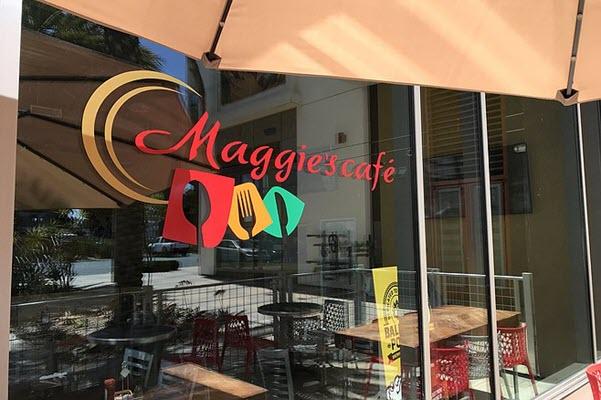 Maggie's Cafe: facing the AT-AT Walker legs of the Coronado Bay Bridge