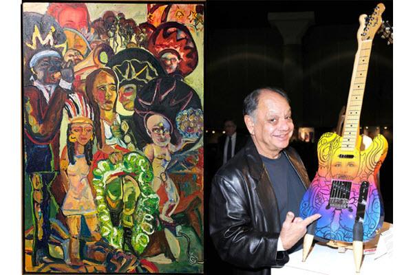 Misericordia in Dallas displays Mexican-American art with Cheech Marin Chicano guitars