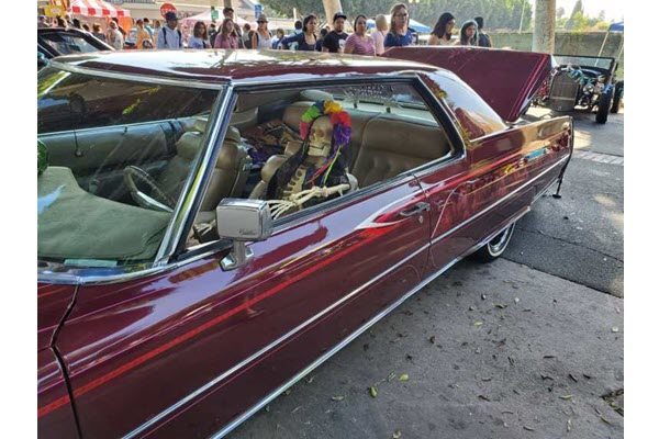 Day of Dead kicks off early with face painting, costumes, lowrider cars that rock — literally
