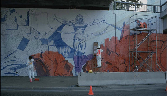 Whitewashed without Notice, Judy Baca's Iconic Freeway Mural Is Being Fully Restored