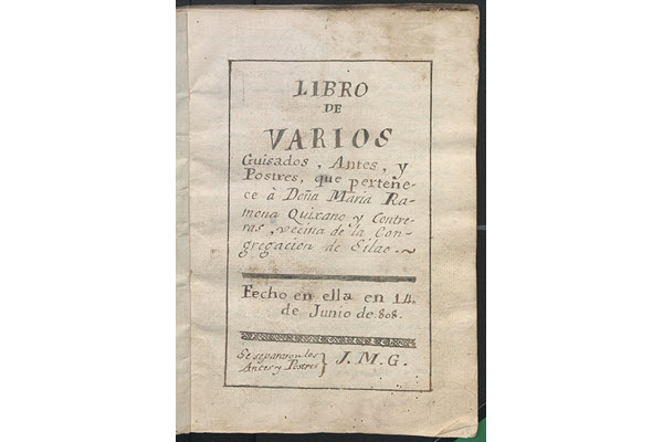 A Trove of Historic and Handwritten Mexican Cookbooks Is Now Online