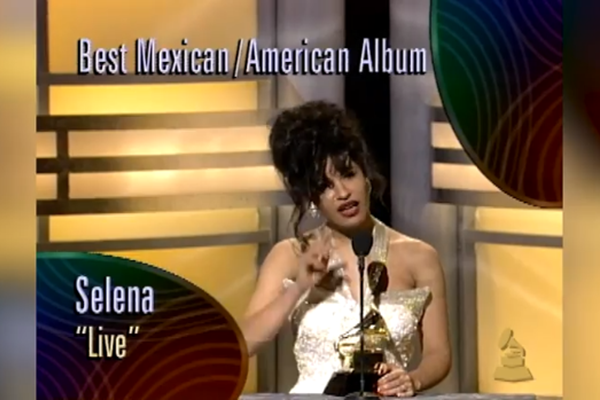 "Watch Salina Win Best Mexican American Album For ""Live"" At 1994 Grammys"