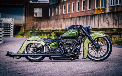 Harley-Davidson El Dorado Is Heritage Softail Gone Low and Green