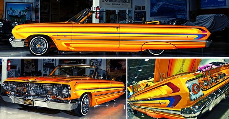 The Story Behind This 1963 Chevy 409 Convertible Lowrider Stunning Design
