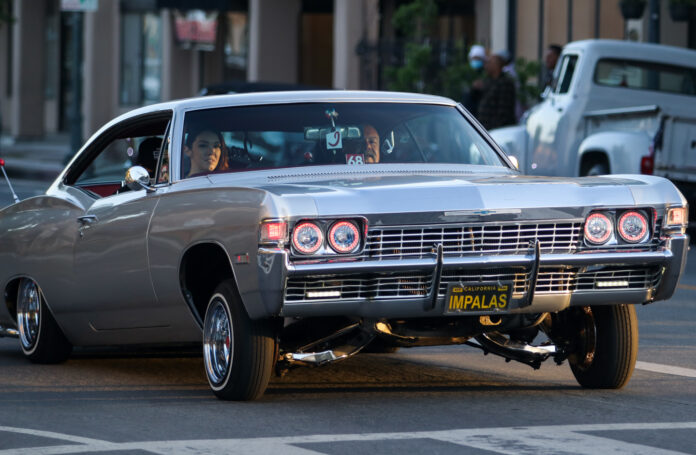 Lowriders, classic cars take over San Benito Street for the evening