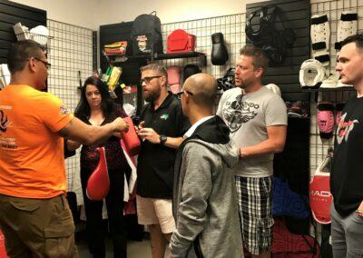 Taekwondo America checking out Macho gear