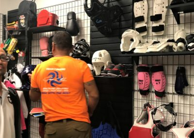 Checking out Macho gear
