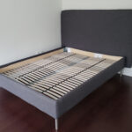 charcoal fabric bed frame