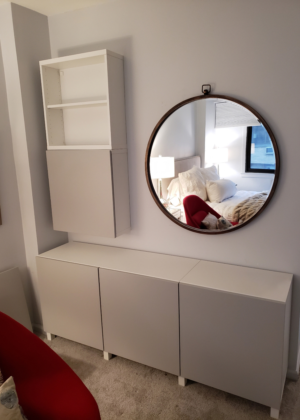 custom home improvement of dresser mirror