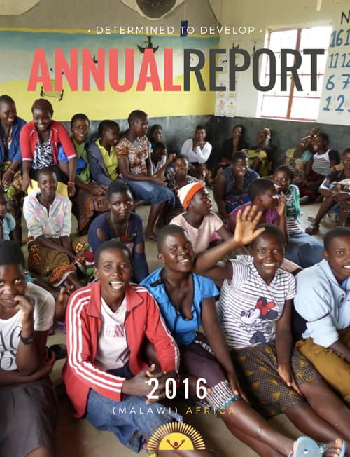 2016 Determined to Develop Annual Report