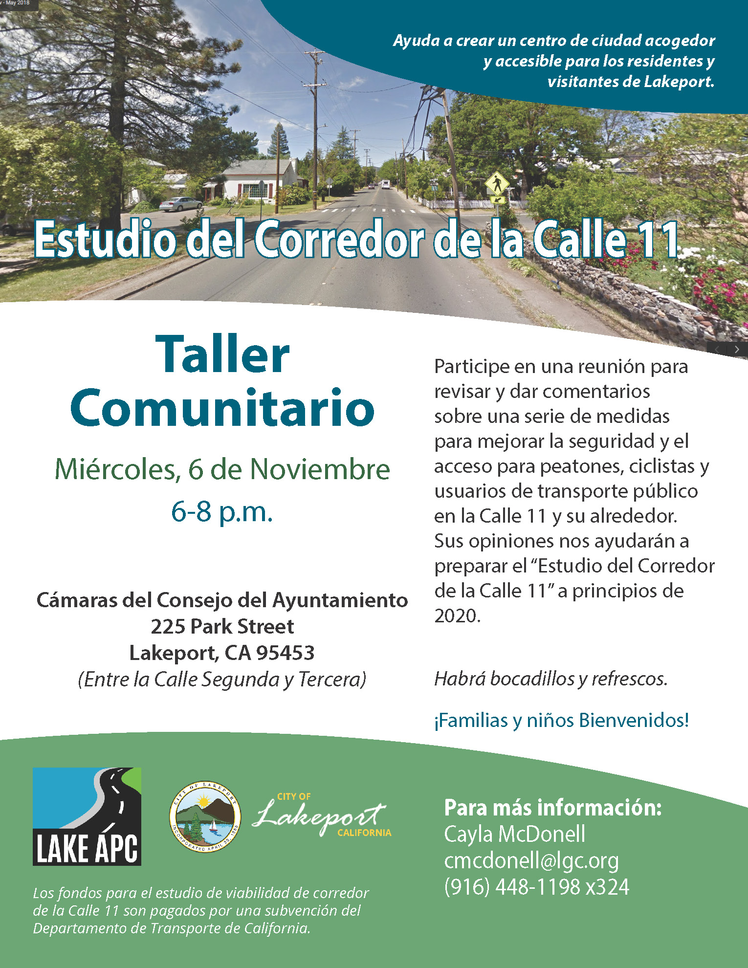 Picture of the flyer for the community workshop in Spanish