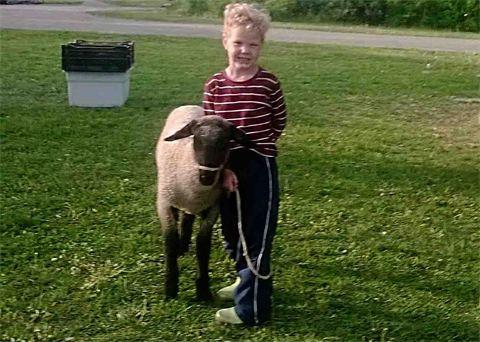 Johnny with lamb