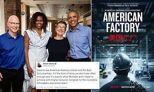 "The first Obama-backed film ""American Factory"" wins the best documentary feature at Oscars 2020"