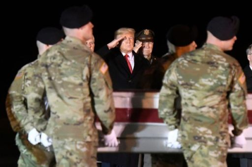 US President Pays Respect to Two US Soldiers Killed in Afghanistan