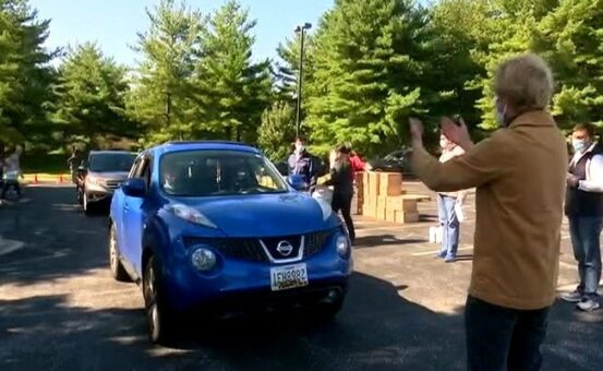 Indian American community holds a free drive-thru giveaway in Washington DC