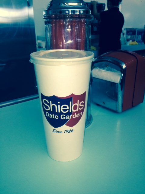 Date shake at Shields in Palm Springs.
