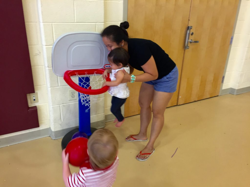 Ava shot some hoops with a new friend!