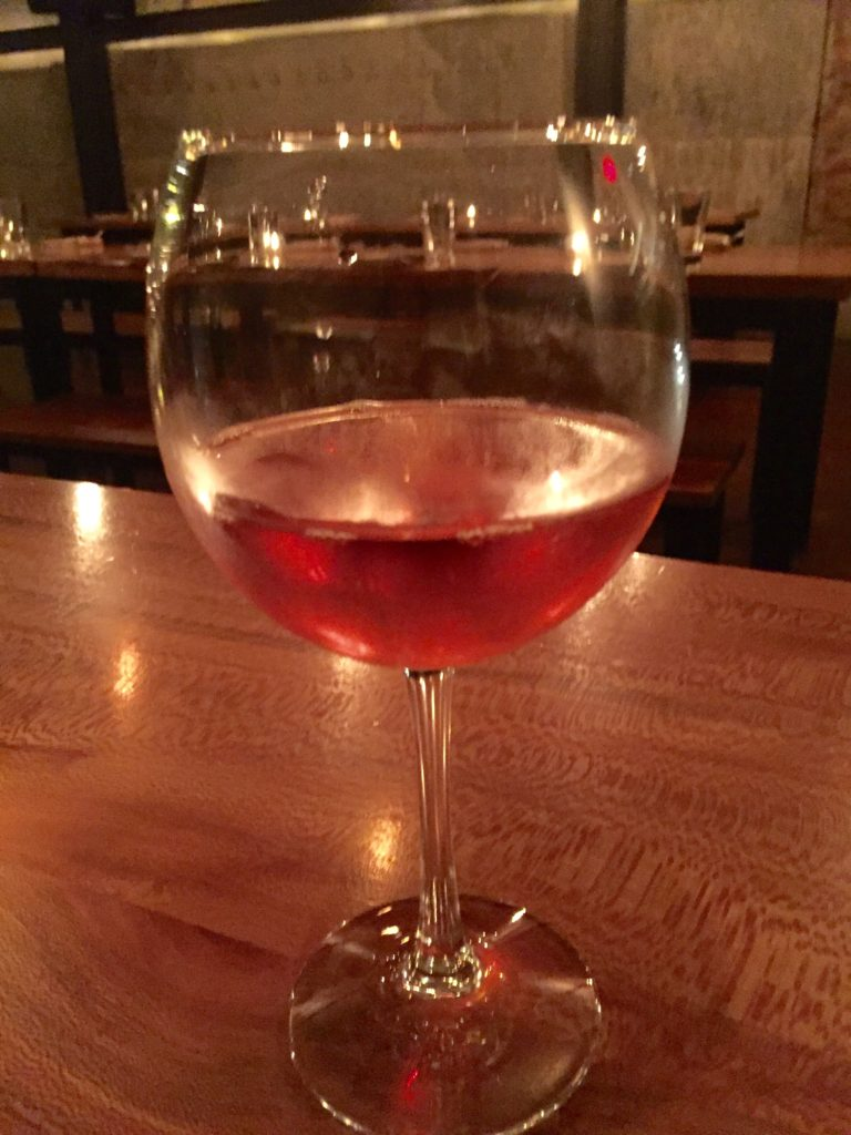 To start, I ordered a glass of Rose.