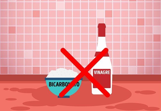 Bicarbonato con vinagre