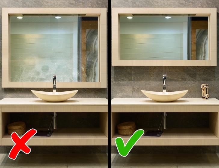 Espejos grandes en el baño