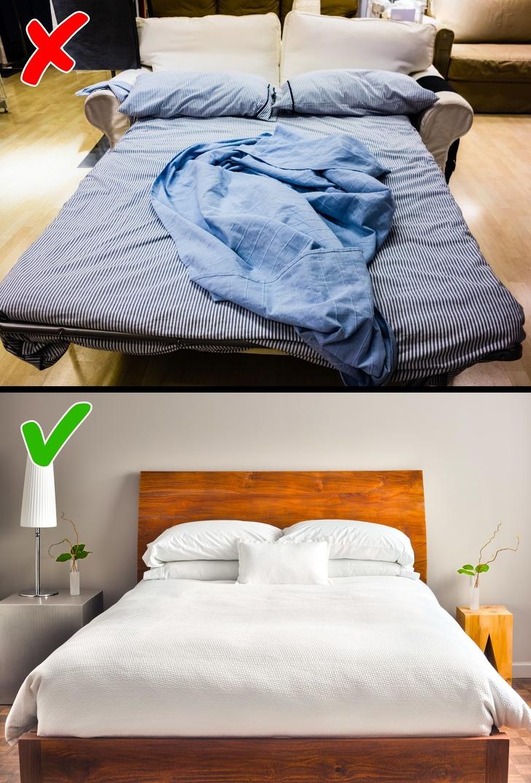 Sofa cama en la habitación