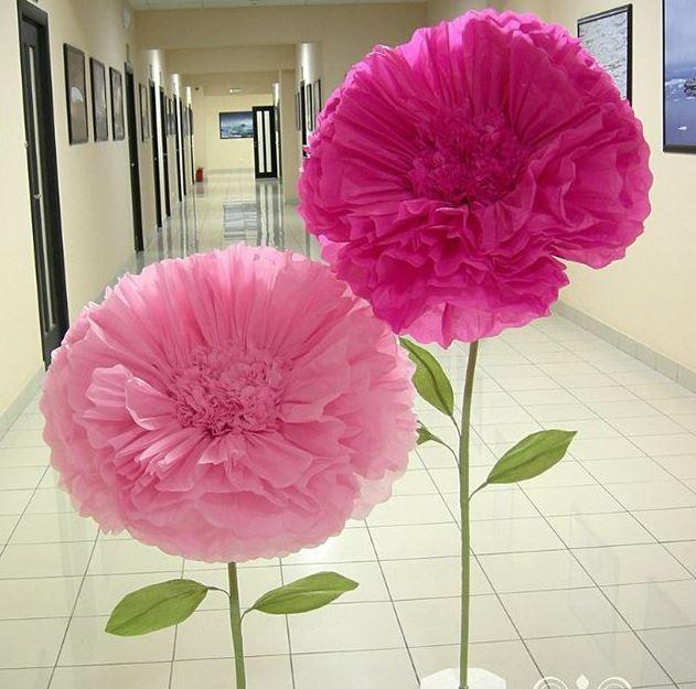 Como hacer una flor gigante de papel paso 12