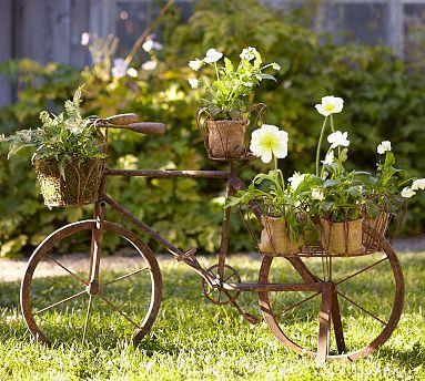 Decoración con plantas DIY bicicleta de madera