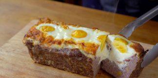 El mejor Rollo de Carne que he probado. Aprende a prepararlo relleno de jamón y queso!