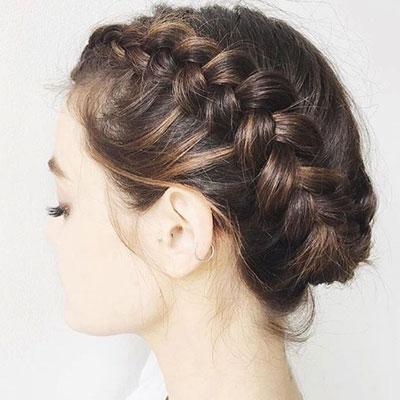 Hermosos peinados con trenzas diadema trenza