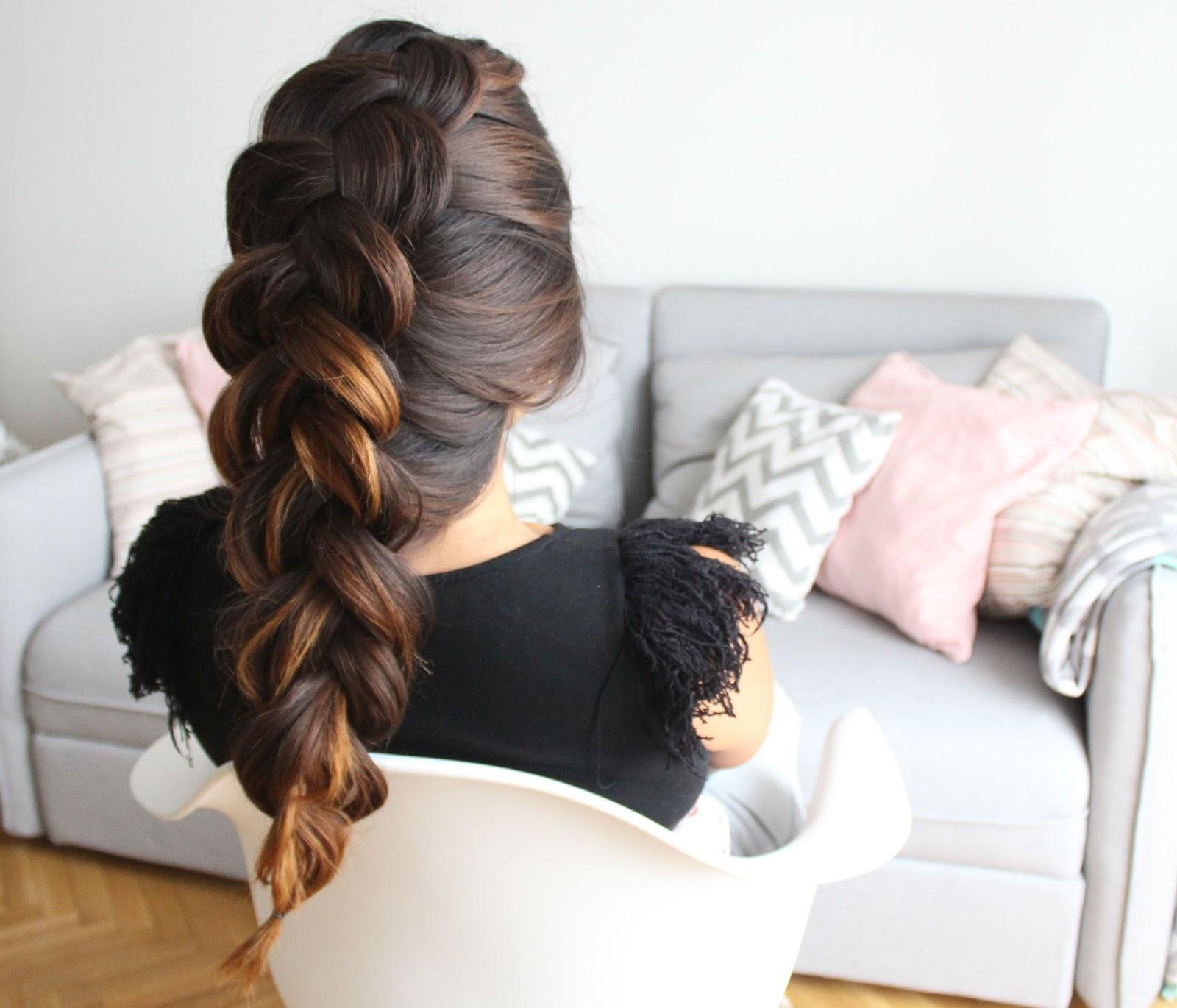 Hermosos peinados trenza holandesa