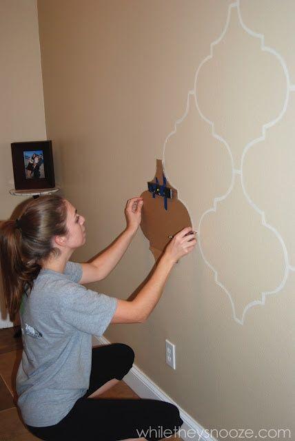 Moldes para dibujar en la pared