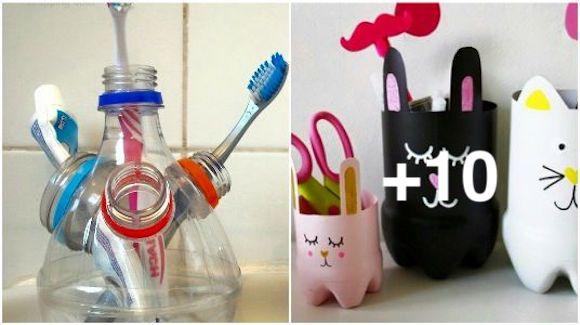 No tires los envases de plástico. Aquí te enseño 12 maneras geniales para reutilizarlos