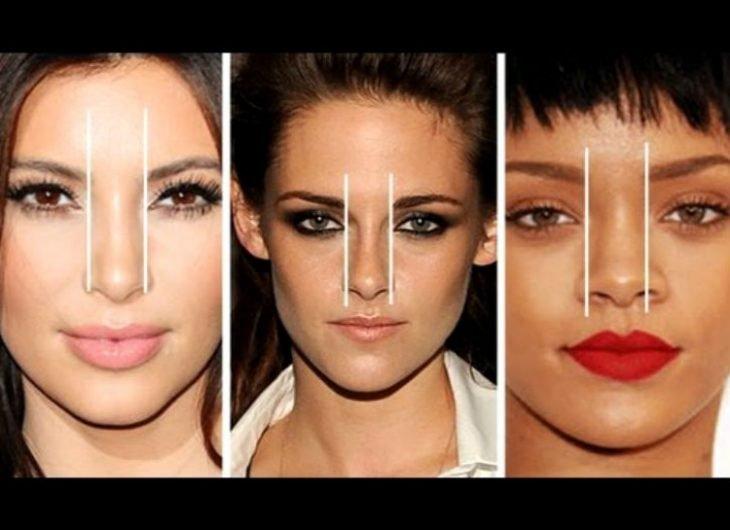 Toma tu nariz como punto de partida para el inicio de las cejas