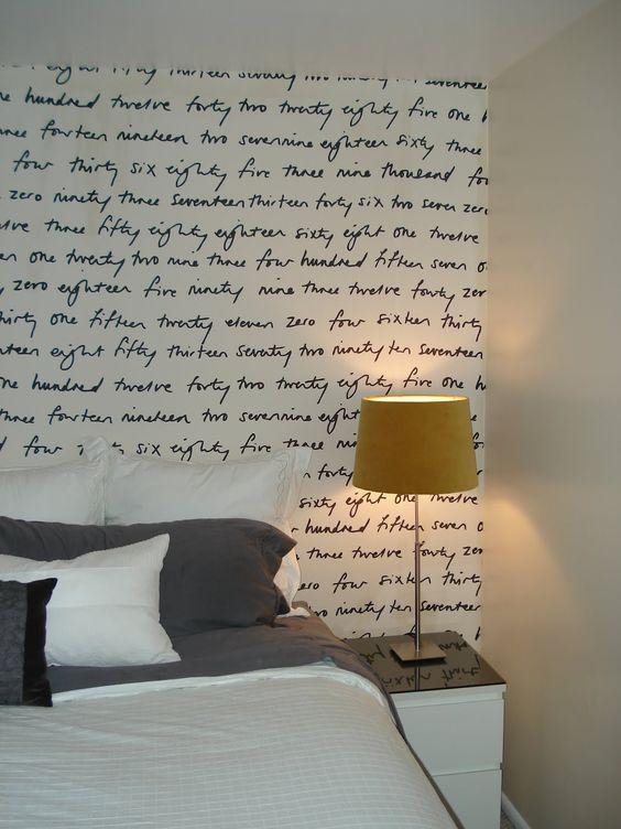 Traza tus escrituras en la superficie de tu habitación