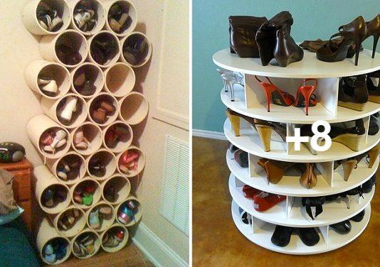 10 ideas muy prácticas para guardar tus zapatos con materiales que tienes en casa