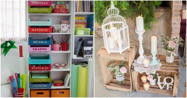 Cosas que puedes hacer con cajas de madera en casa
