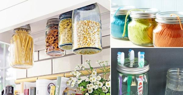 Ideas para darles un nuevo uso a los frascos de cristal