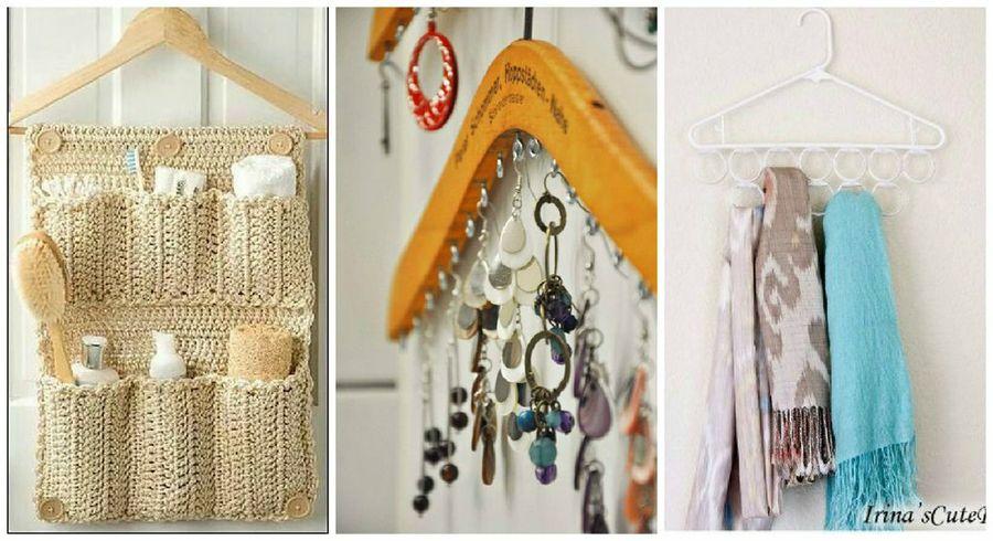 Tus accesorios en una percha de ropa