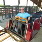 This photo of me riding <I>Hellcat</I> was taken June 2014 at Timber Falls in Wisconsin Dells.