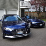 This is my Audi A4 allroad next to my Z4. I lucked out with the license plate for the A4: COASTER. The previous owner of this plate apparently didn't renew it, so I snapped it up while it was on the available list. For the Z4, the license plate, AIRTIME, is a roller coaster term for rising out of your seat, and it seemed like a good term for a convertible car, too. For the longest time, people simply assumed I worked for a cell phone company. It's only coincidental that I subsequently got jobs working at Cingular Wireless/AT&T and at T-Mobile!