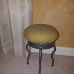 IKEA Uri stool in linden green.