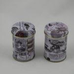 Tin newsprint shakers