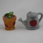 Flower pot & watering can