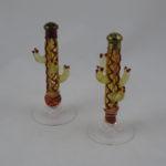 Glass cactus shakers