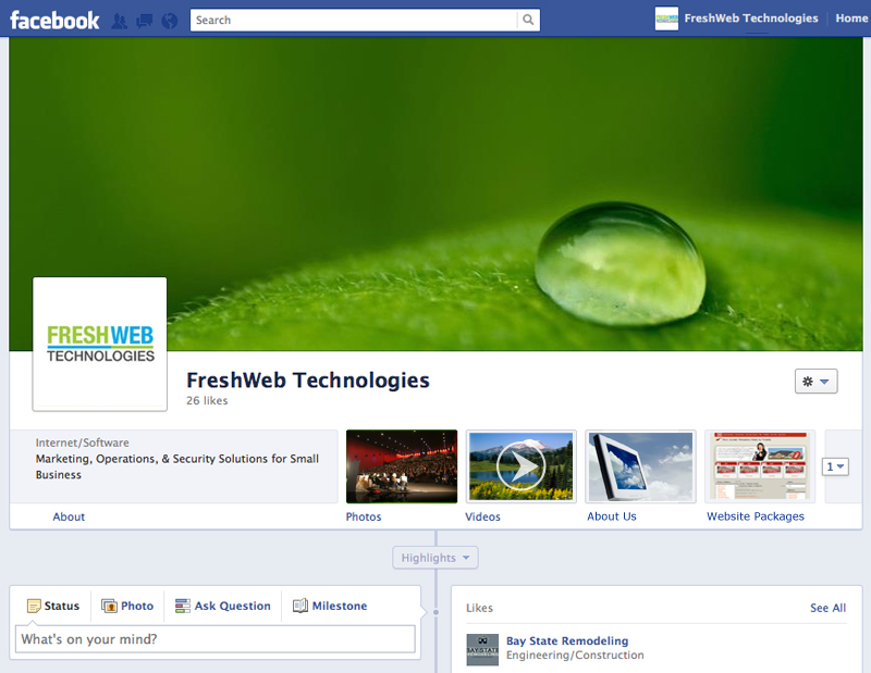 facebook business page new layout format