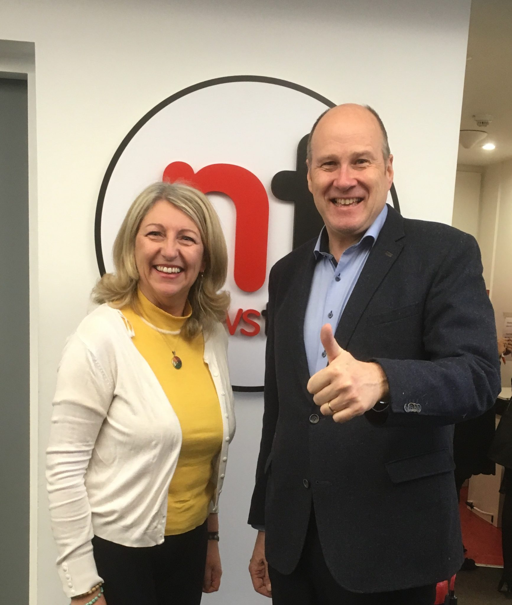 michelle and ivan Yates at The Newstalk Studio