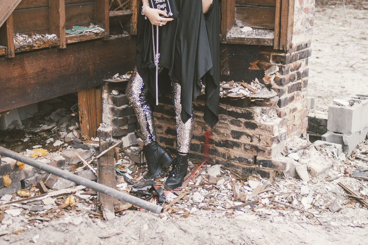 Goth fashion inspo by Quiet Lion Creations. Photo by Delane Ashley Photography