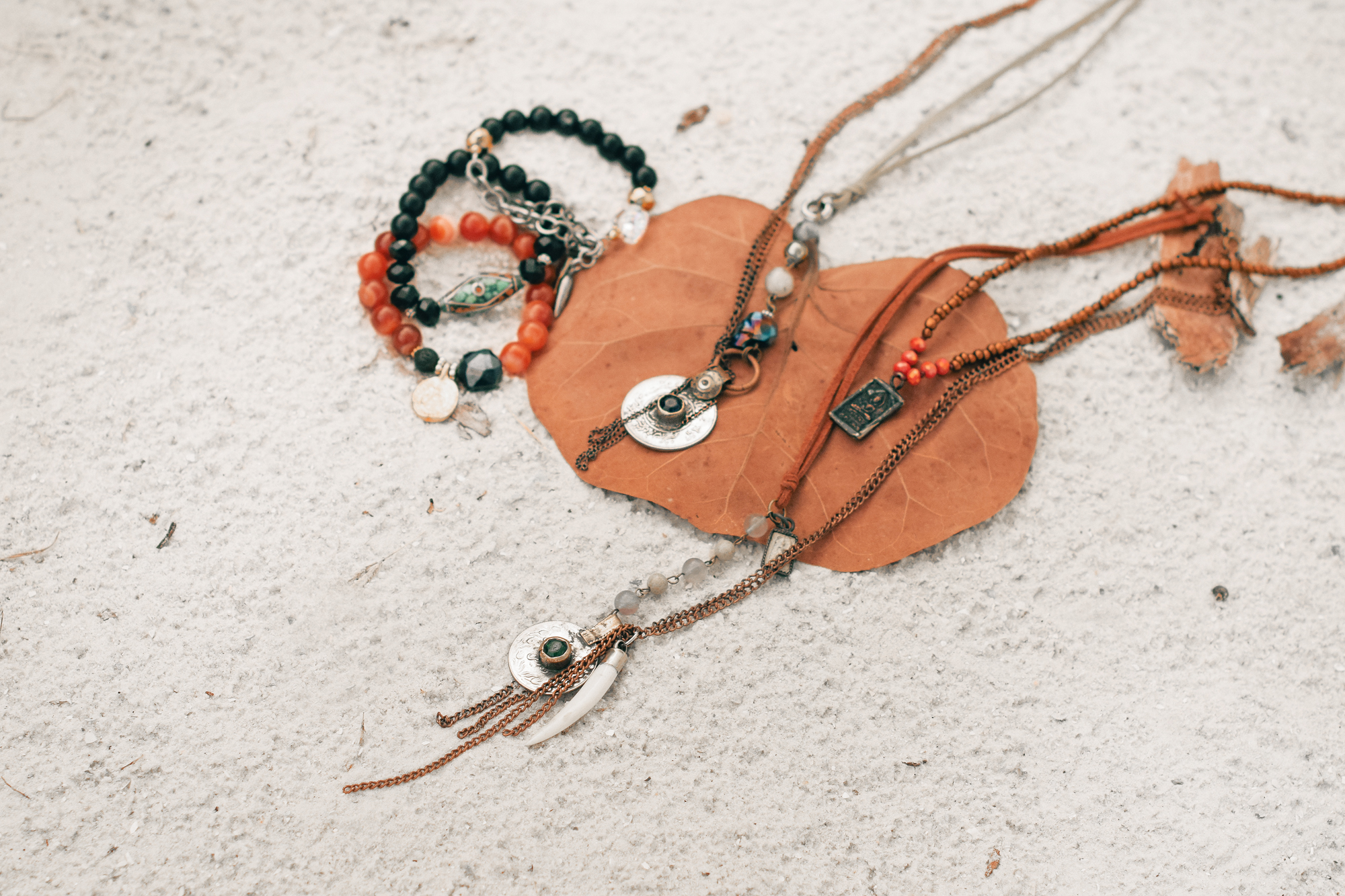 Men's bohemian jewelry by Quiet Lion Creations