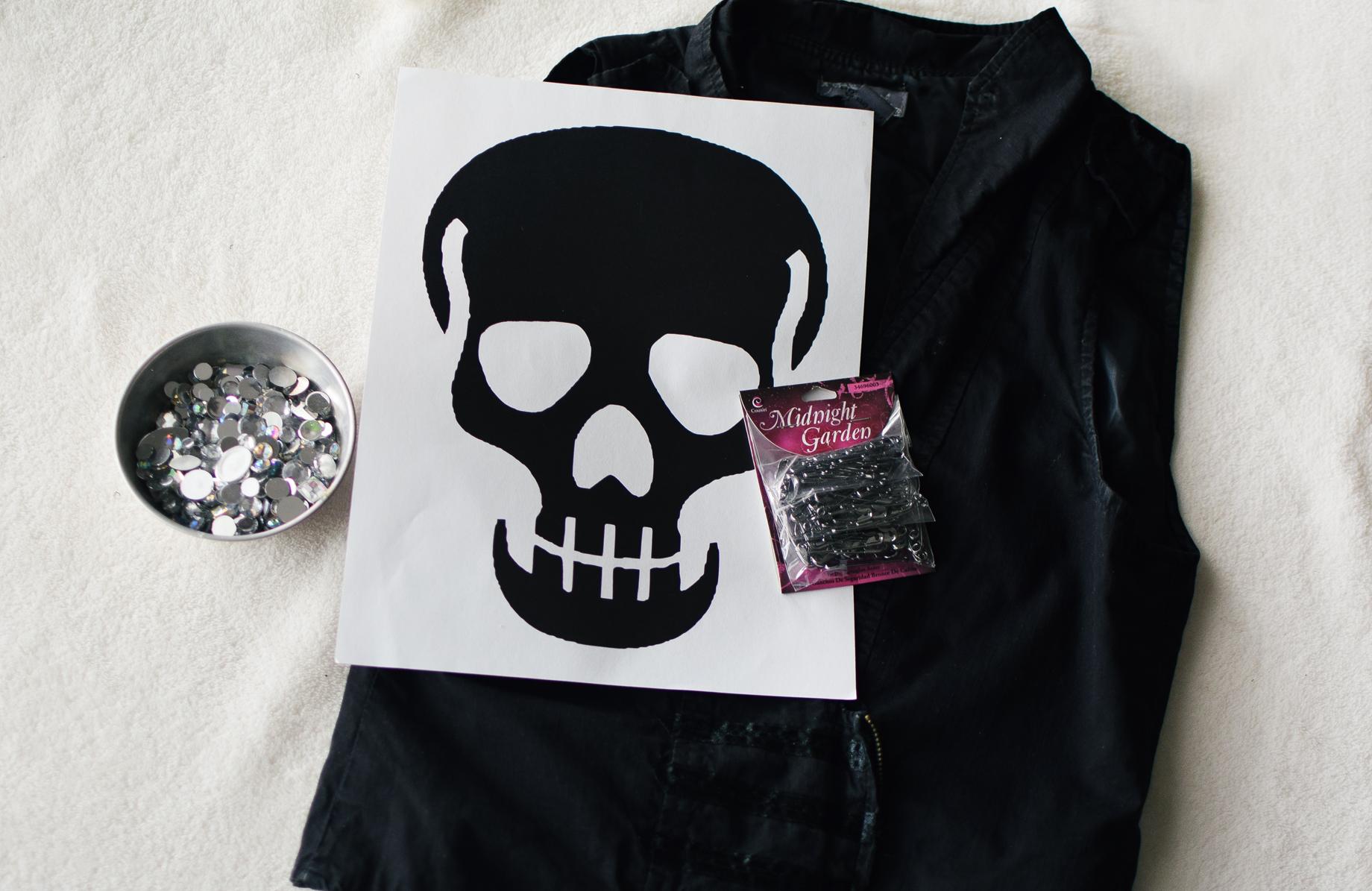 DIY Safety Pin Skull Vest